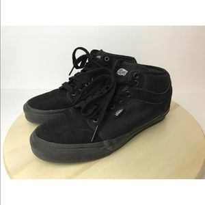 VANS Skate Shoe Black High Top Sneaker Men's 8.5
